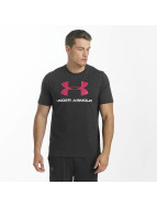 Under Armour T-paidat Charged Cotton Sportstyle Logo musta