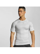 Under Armour T-Shirt Heatgear Printed Shortsleeve Compression blanc