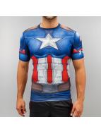 Under Armour T-Shirt Captain America Compression blau