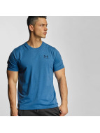 Under Armour t-shirt Charged Cotton Left Chest Lockup blauw