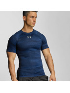 Under Armour T-Shirt Heatgear Printed Shortsleeve Compression bleu