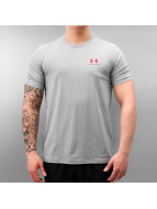 Under Armour T-Shirt Charged Cotton Left Chest Lockup grau