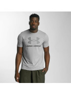 Under Armour T-Shirt Charged Cotton Sportstyle Logo grau