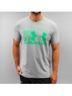 Under Armour t-shirt Stack Attack grijs