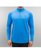 Under Armour T-Shirt manches longues Tech Heatgear 1/4 bleu