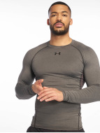 Under Armour T-Shirt manches longues Heatgear Compression gris