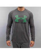 Under Armour T-Shirt manches longues Tech Rise Up Sportstyle gris