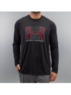 Under Armour T-Shirt manches longues Tech Rise Up Sportstyle noir