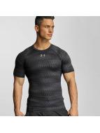 Under Armour T-shirt Heatgear Printed Shortsleeve Compression nero