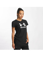 Under Armour T-Shirt Sportstyle Crew schwarz