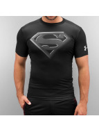 Under Armour t-shirt Alter Ego Superman Compression zwart