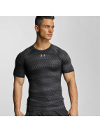 Under Armour t-shirt Heatgear Printed Shortsleeve Compression zwart
