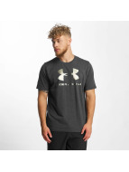 Under Armour t-shirt Charged Cotton Sportstyle Logo zwart