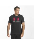 Under Armour Tričká Charged Cotton Sportstyle Logo èierna