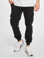 Urban Classics Брюки-карго / чино Washed Cargo Twill Jogging черный