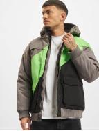 Urban Classics Зимняя куртка Zip Zag Fastlane серый