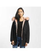 Urban Classics Зимняя куртка Peached Teddy Lined черный
