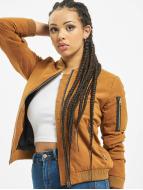 Urban Classics Куртка-бомбардир Ladies Peached коричневый