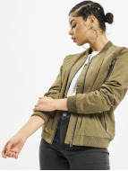 Urban Classics Куртка-бомбардир Ladies Peached оливковый