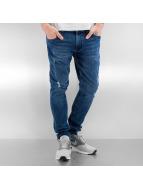 Urban Classics Облегающие джинсы Ripped синий