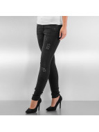 Urban Classics Облегающие джинсы Ripped Denim черный