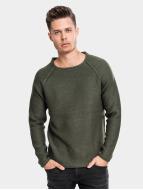 Urban Classics Пуловер Raglan Wideneck оливковый