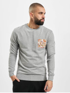 Urban Classics Пуловер Contrast Pocket серый