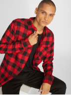 Urban Classics Рубашка Checked Flanell красный
