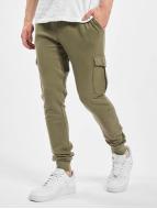 Urban Classics Спортивные брюки Fitted Cargo оливковый