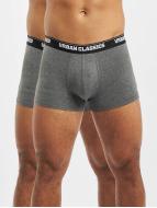 Urban Classics  Shorts boxeros Mens Double Pack gris