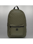 Urban Classics Backpack Diamond Quilt Leather Imitation olive