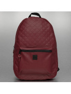 Urban Classics Backpack Diamond Quilt Leather Imitation red