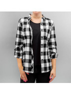 Urban Classics Blouse Ladies Turnup Checked Flanell zwart