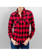 Urban Classics Blouse Ladies Checked Flanell zwart
