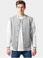 Urban Classics Blouson Teddy 2-Tone College Sweatjacket gris