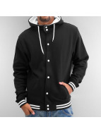 Urban Classics Blouson Teddy Hooded College noir