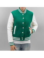 Urban Classics Blouson Teddy Ladies Oldschool vert