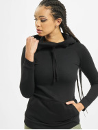 Urban Classics Bluzy z kapturem Ladies High Neck czarny