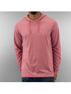 Urban Classics Bluzy z kapturem Melange Jersey czerwony