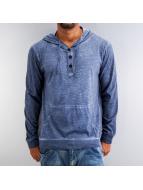 Urban Classics Bluzy z kapturem Spray Dye Slub niebieski