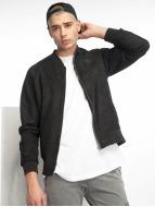 Urban Classics Bomber jacket Imitation Suede black