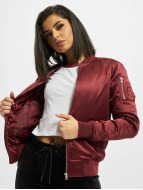 Urban Classics Bomber jacket Ladies Satin Bomber red
