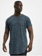 Urban Classics Camiseta Long Space Dye Turn Up azul