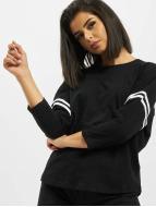 Urban Classics Camiseta de manga larga Sleeve Striped negro
