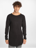 Urban Classics Camiseta de manga larga Long Shaped Waffle negro