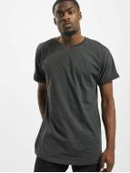 Urban Classics Camiseta Long Shaped Turnup gris