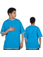 Urban Classics Camiseta Kids Contrast turquesa
