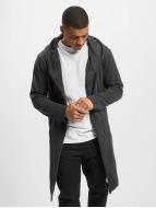 Urban Classics Cardigan Long Hooded grigio