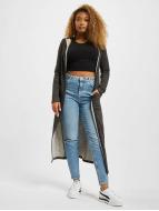 Urban Classics Cardigans Space Dye Hooded svart