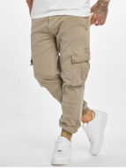 Urban Classics Cargobroek Washed Cargo Twill Jogging beige